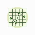 Chart green icon Royalty Free Stock Photo