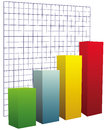 Chart with grid coordinates to illustrate the performance vector illustration Royalty Free Stock Photo
