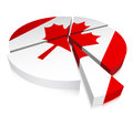 Chart vector illustration of with canadian flag Royalty Free Stock Photos
