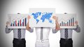 Chart and world map Royalty Free Stock Photo