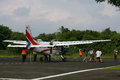 Charter aircraft tourist travel landed at the island of karimun central java indonesia Stock Photo