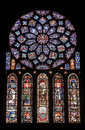 Chartres - Cathedral, stained glass window Stock Photo
