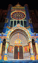 Chartres illumination Royalty Free Stock Photo
