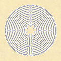 Chartres Labyrinth Royalty Free Stock Photo