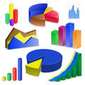 Charts and Graphs Collectio Royalty Free Stock Photos