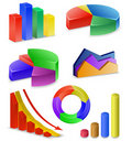 Charts and Graphs Collection Royalty Free Stock Images