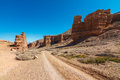 Charyn Canyon Stock Photo