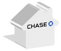 Chase logotype in 3d form on ground