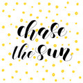 Chase the sun. Lettering illustration.