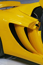 Chassis yellow color brand new car sports car body Stock Image