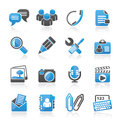 Chat application and communication icons vector icon set Royalty Free Stock Photos