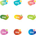 Chat or blog bubbles. Stock Image