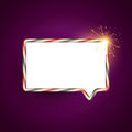 Chat bubble creative vector design Stock Photography