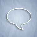 Chat bubble symbol on grey background light rgb eps illustration Stock Image