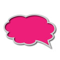 Chat bubble on white background Royalty Free Stock Photos