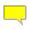 Chat bubble on white background Royalty Free Stock Images