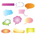 Chat bubbles set of different bubble illustrations in different colors Royalty Free Stock Photos