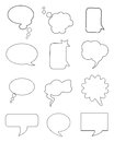 Chat bubbles set of plain simple idea for your design Royalty Free Stock Photo