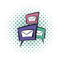 Chat bubles comics icon Royalty Free Stock Photo