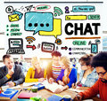 Chat Chatting Communication Social Media Internet Concept Royalty Free Stock Photo