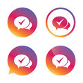 Chat check sign icon. Yes or Tick symbol. Royalty Free Stock Photo