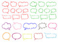 Chat colur bubble vector illustration Stock Photo