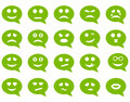 Chat emotion smile icons Royalty Free Stock Photo
