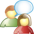 Chat Icon Royalty Free Stock Images