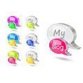 Chat icon set with blog word Royalty Free Stock Photo