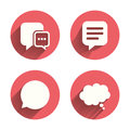 Chat icons. Comic speech bubble signs. Think