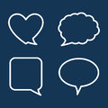 Chat speech bubbles design vector illustration Stock Images