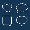Chat speech bubbles design vector illustration Stock Images