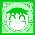 Chat vert de masque Photo libre de droits