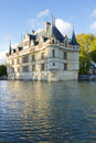 Chateau Azay-le-Rideau , Loire, France at sunset Royalty Free Stock Photography