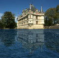 Chateau azay le rideau loire france was built from to Royalty Free Stock Photos