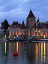 Chateau d'Ouchy, Lausanne, Switzerland Stock Images