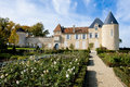 Chateau d yquem france chateaux de seen from the lovely rose garden on a wonderful day Royalty Free Stock Photography
