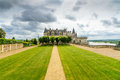 Chateau de amboise medieval castle leonardo da vinci tomb loire valley france europe unesco site Royalty Free Stock Photo
