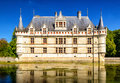 The chateau de Azay-le-Rideau, castle in France Royalty Free Stock Photo