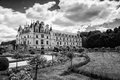 Chateau de Chenonceau spanning the River Cher in the Loire Valle Royalty Free Stock Photo