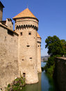 Chateau de Chillon. Chillon castle Royalty Free Stock Image