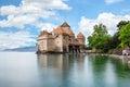 Chateau de Chillon at Lake Geneva in Montreux, Switzerland Royalty Free Stock Photo