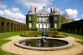 Chateau de la hulpe renaissance castle south of bruxelles belgium with french style garden Stock Photos