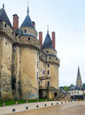 The chateau de langeais france this castle is located in in loire valley was built from th to th century and Royalty Free Stock Image
