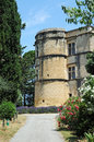 Chateau de lourmarin lourmarain in provence france Stock Photos