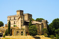 Chateau de lourmarin lourmarain in provence france Royalty Free Stock Photo