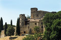 Chateau de lourmarin lourmarain in provence france Royalty Free Stock Photography