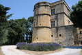 Chateau de lourmarin lourmarain in provence france Stock Photography