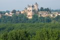 Chateau de montfort france biron over the river dordogne in perigord Royalty Free Stock Photo