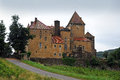 Chateau de pierreclos in the vineyards in burgundy france Stock Images